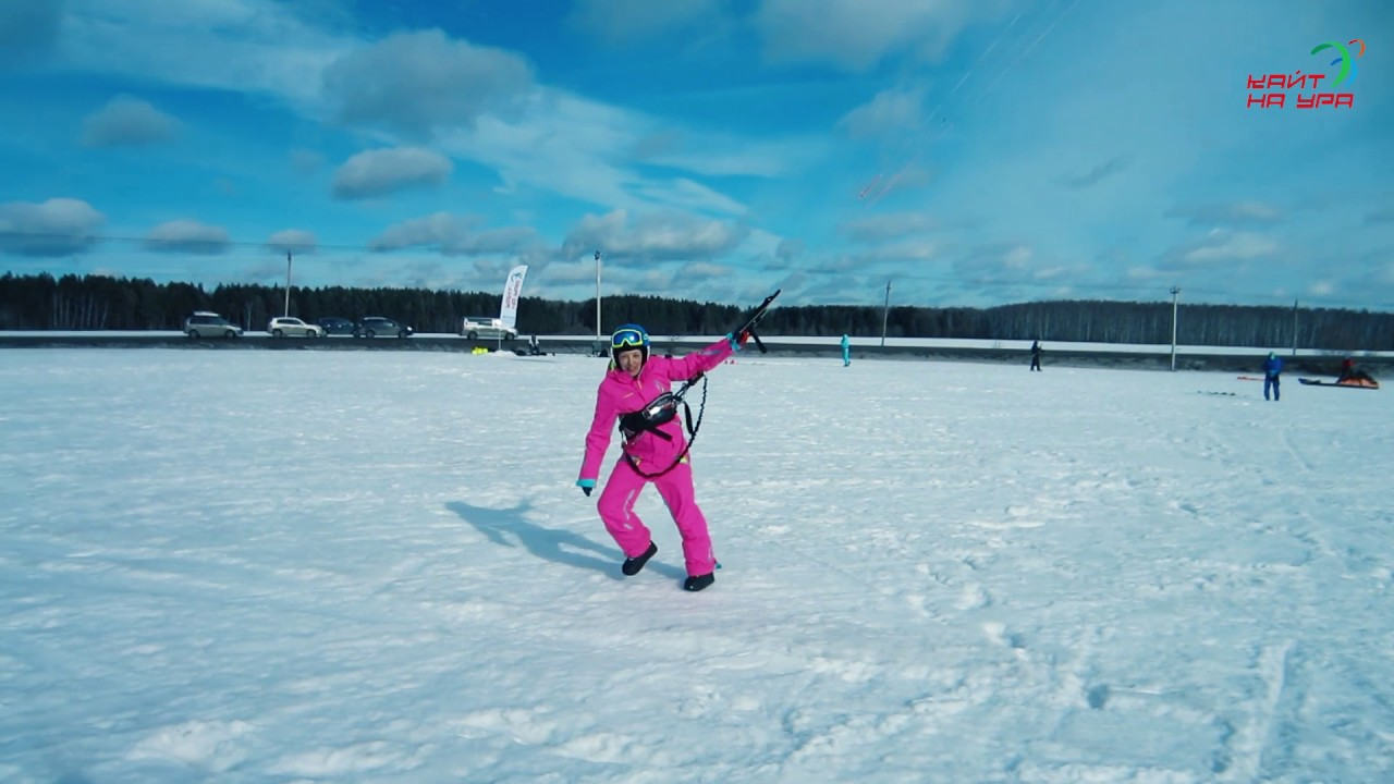 Snowkiting . Podpolya . 25.02.17 - YouTube